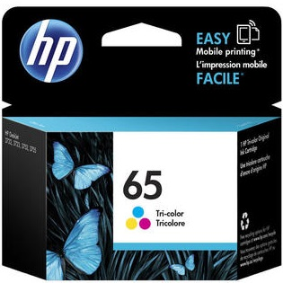HP 65 Tricolor Ink Cartridge - HP Genuine OEM (Tricolor)