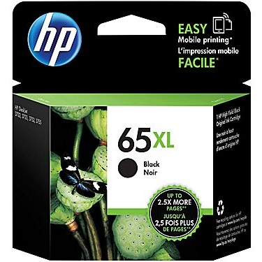 HP 65XL Black Ink Cartridge - HP Genuine OEM (Black)