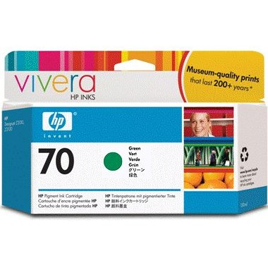 HP 70 Green Ink Cartridge - HP Genuine OEM (Green)