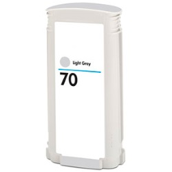 HP 70 Light Gray Ink Cartridge - HP Remanufactured (Light Gray)