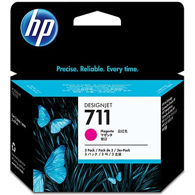 HP 711 Magenta Ink Cartridge - HP Genuine OEM (Magenta)
