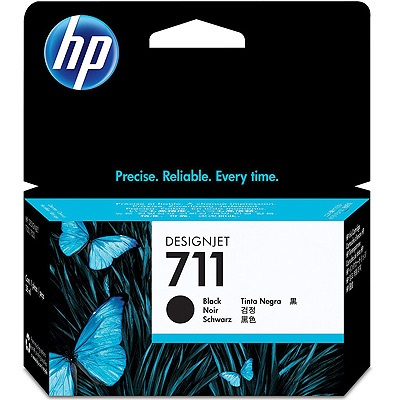 HP 711 Black Ink Cartridge - HP Genuine OEM (Black)