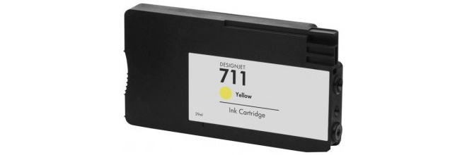 HP 711 Yellow Remanufactured