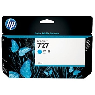 HP 727 Cyan Ink Cartridge - HP Genuine OEM (Cyan)