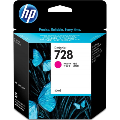 HP 728 Magenta Ink Cartridge - HP Genuine OEM (Magenta)