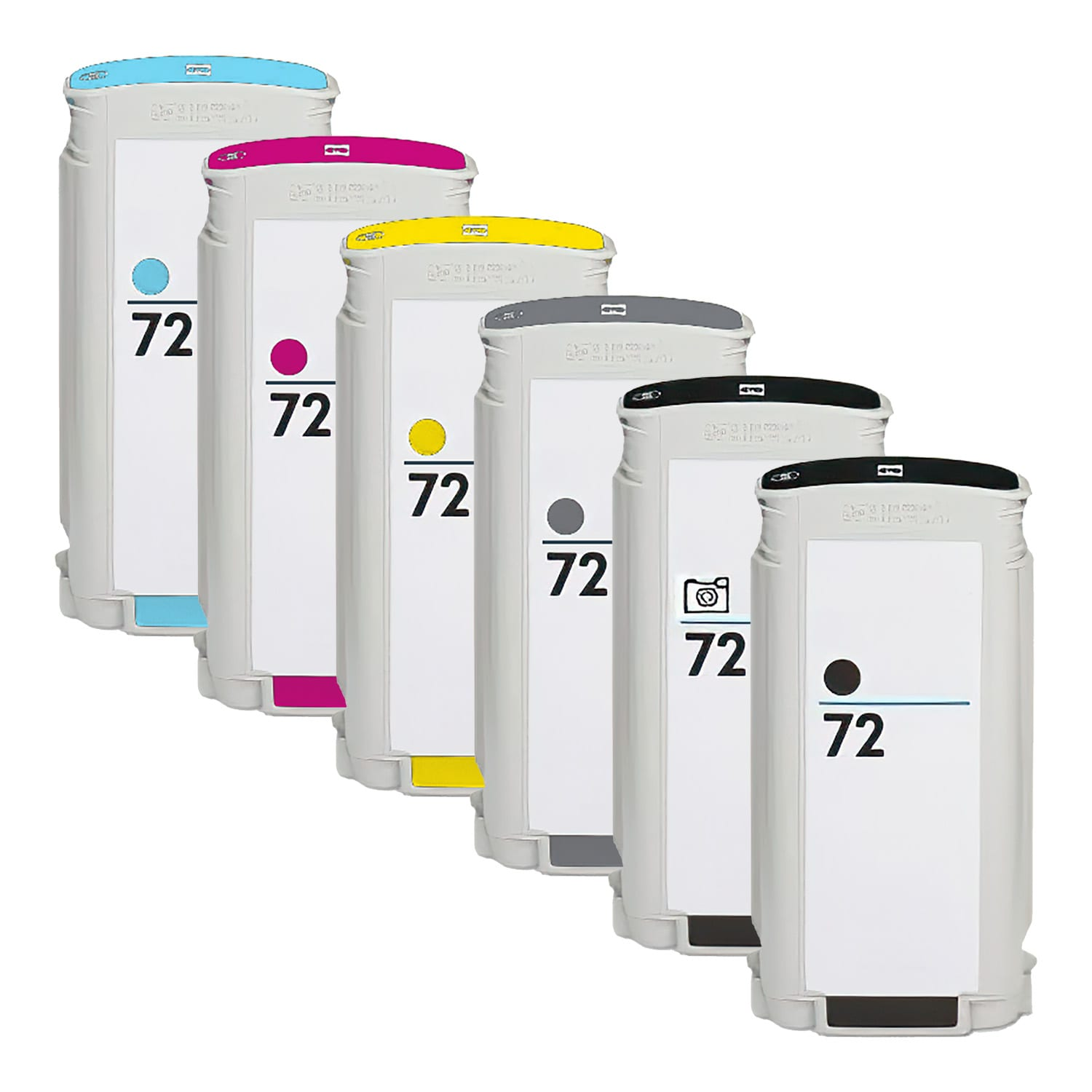 Remanufactured HP 72XL Inkjet High Capacity Pack - 6 Cartridges