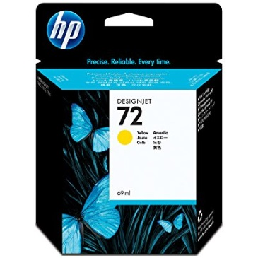 HP 72 Yellow Ink Cartridge - HP Genuine OEM (Yellow)