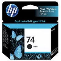 HP 74 Ink Cartridge - HP Genuine OEM (Black)