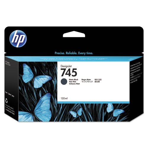 HP 745 Matte Black Ink Cartridge - HP Genuine OEM (Matte Black)