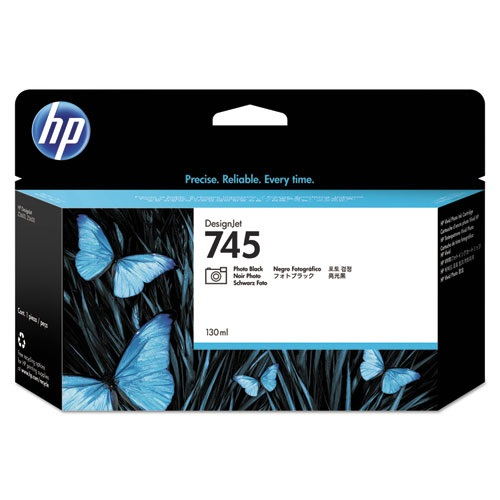 HP 745 Photo Black Ink Cartridge - HP Genuine OEM (Photo Black)