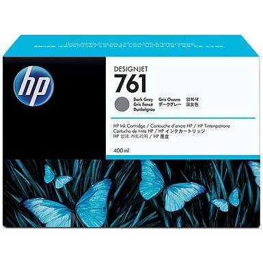 HP 761 Dark Gray Ink Cartridge - HP Genuine OEM (Dark Gray)