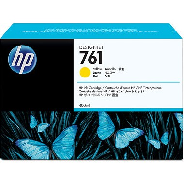HP 761 Yellow Ink Cartridge - HP Genuine OEM (Yellow)