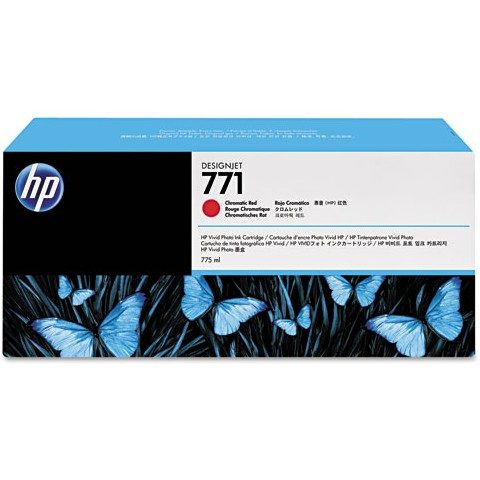 HP 771 Chromatic Red Ink Cartridge - HP Genuine OEM (Red)