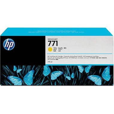 HP 771 Yellow Ink Cartridge - HP Genuine OEM (Yellow)