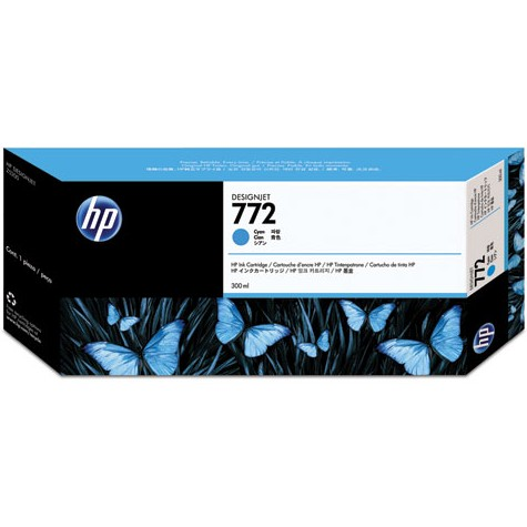 HP 772 Cyan Ink Cartridge - HP Genuine OEM (Cyan)