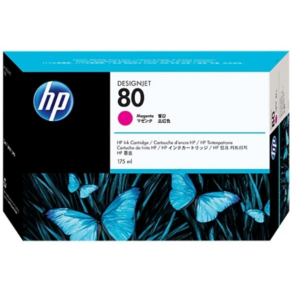 HP 80 Magenta Ink Cartridge - HP Genuine OEM (Magenta)
