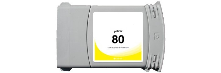 HP 80XL Yellow Remanufactured