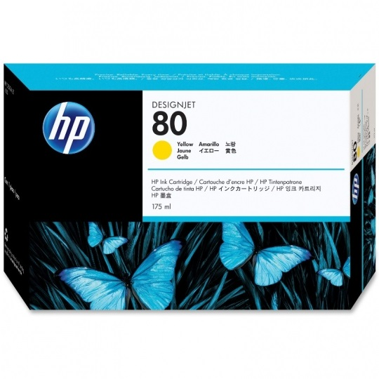 HP 80XL Yellow Ink Cartridge - HP Genuine OEM (Yellow)