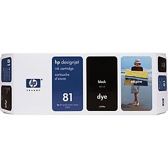 Genuine HP 81 Black Ink Cartridge