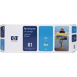 Genuine HP 81 Cyan Ink Cartridge