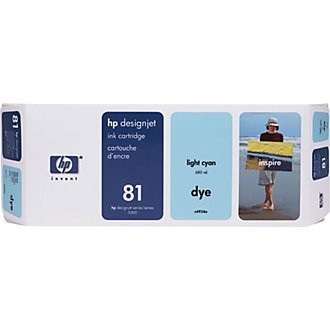 Genuine HP 81 Light Cyan Ink Cartridge