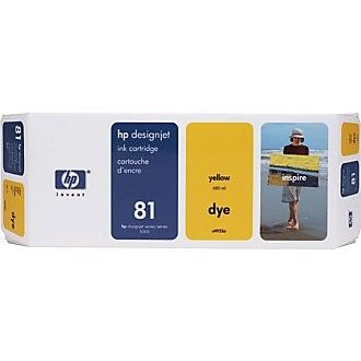 Genuine HP 81 Yellow Ink Cartridge
