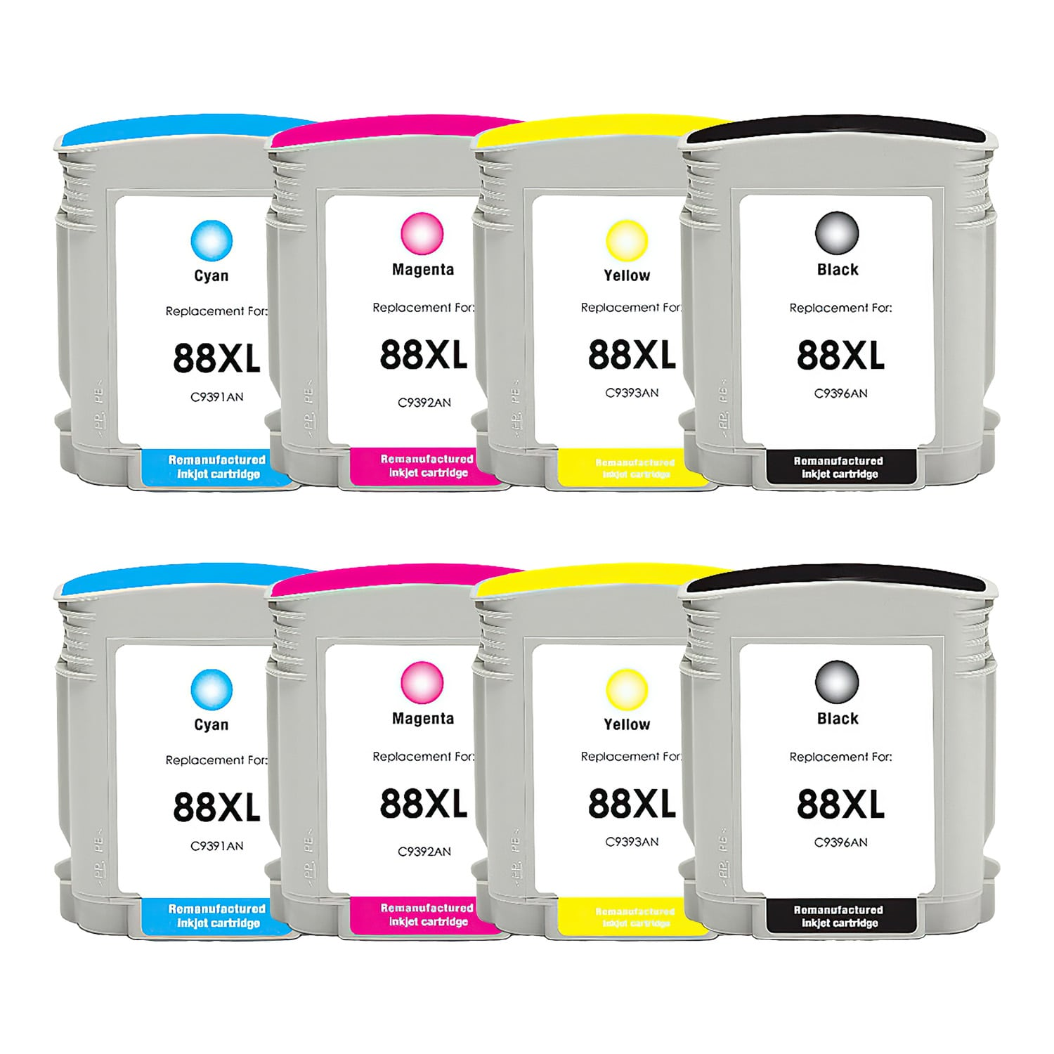 Remanufactured HP 88XL Inkjet High Capacity Pack - 8 Cartridges