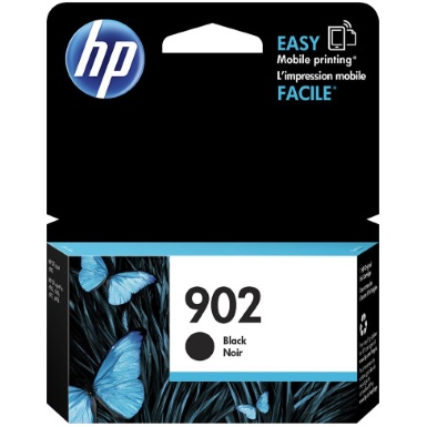 HP 902 Black Ink Cartridge - HP Genuine OEM (Black)