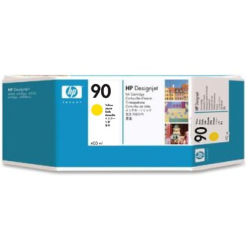HP 90 Yellow Ink Cartridge - HP Genuine OEM (Yellow)