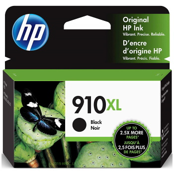 HP 910XL Black Ink Cartridge - HP Genuine OEM (Black)