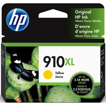 HP 910XL Yellow Ink Cartridge - HP Genuine OEM (Yellow)