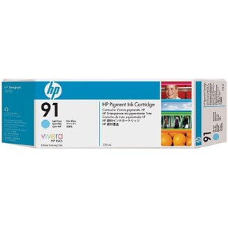 HP 91 Light Cyan Ink Cartridge - HP Genuine OEM (Light Cyan)