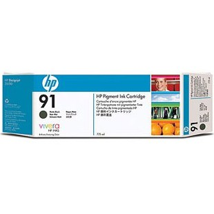 HP 91 Matte Black Ink Cartridge - HP Genuine OEM (Matte Black)