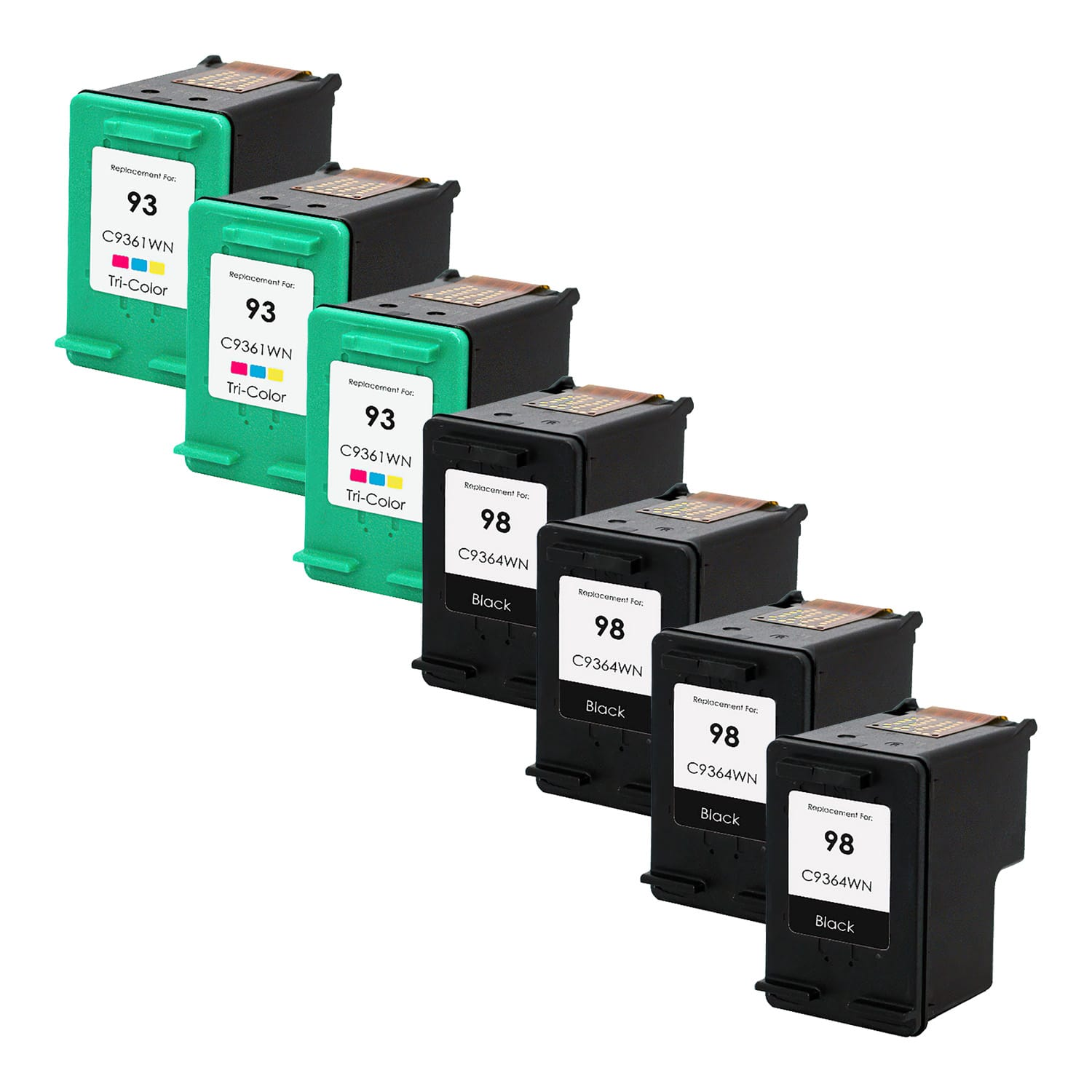 Remanufactured HP 93-98 Inkjet Pack - 7 Cartridges