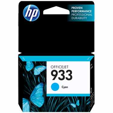 HP 933 Cyan Ink Cartridge - HP Genuine OEM (Cyan)