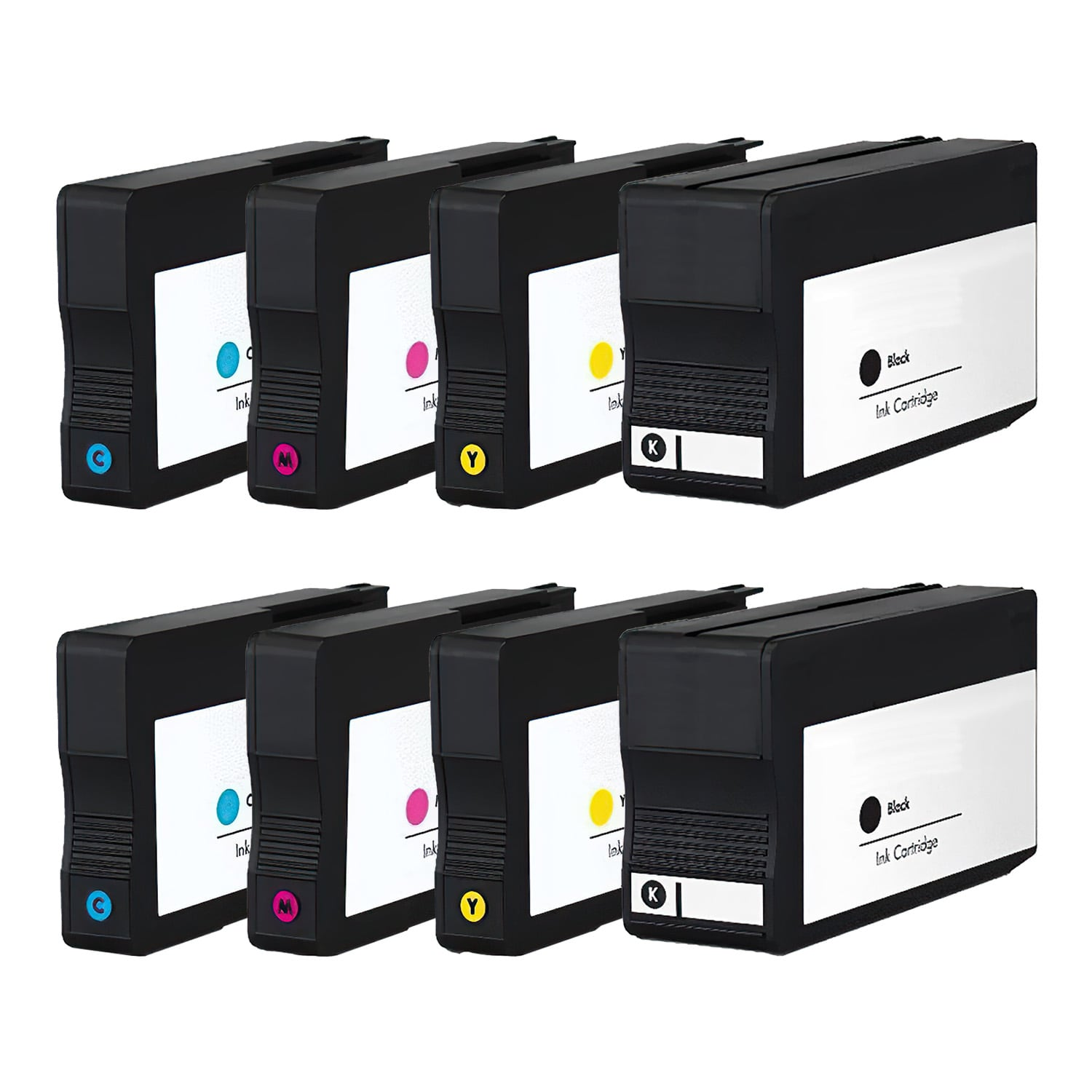 Remanufactured HP 933XL-932XL Inkjet High Capacity Pack - 8 Cartridges
