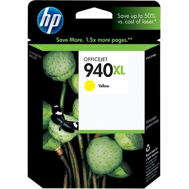 HP 940XL Yellow Ink Cartridge - HP Genuine OEM (Yellow)