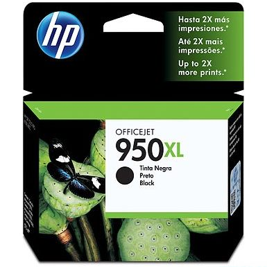 HP 950XL Black Ink Cartridge - HP Genuine OEM (Black)