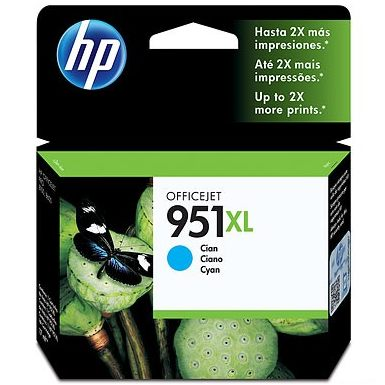 HP 951XL Cyan Ink Cartridge - HP Genuine OEM (Cyan)