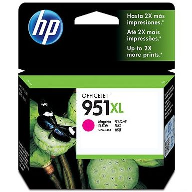 HP 951XL Magenta Ink Cartridge - HP Genuine OEM (Magenta)