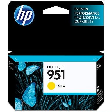 HP 951 Yellow Ink Cartridge - HP Genuine OEM (Yellow)