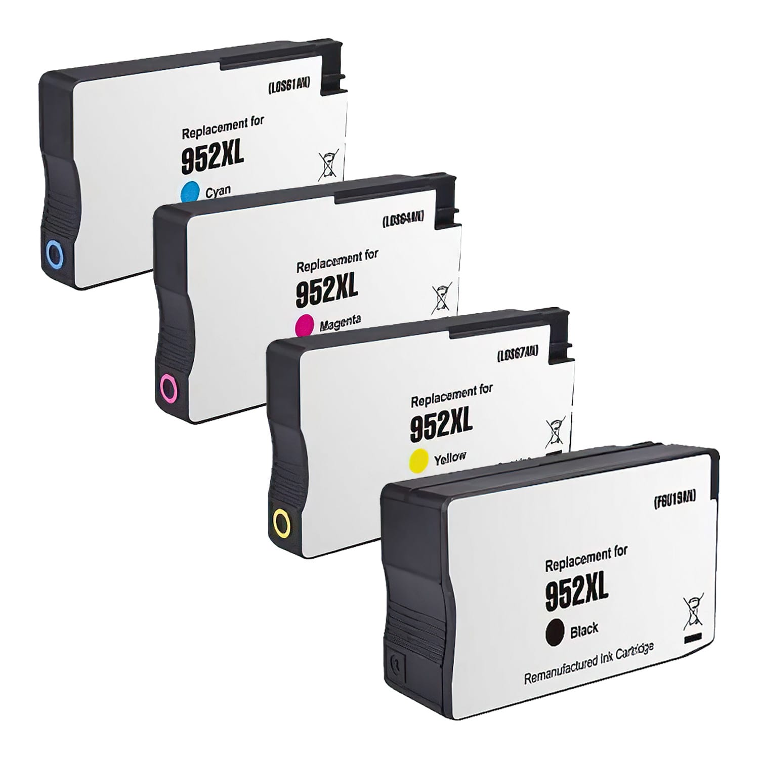 Remanufactured HP 952XL Inkjet High Capacity Pack - 4 Cartridges