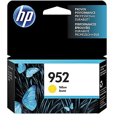 HP 952 Yellow Ink Cartridge - HP Genuine OEM (Yellow)