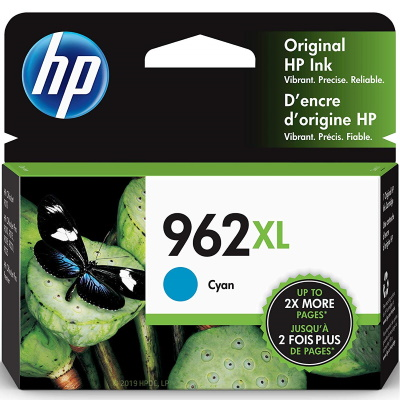 HP 962XL Cyan Ink Cartridge - HP Genuine OEM (Cyan)