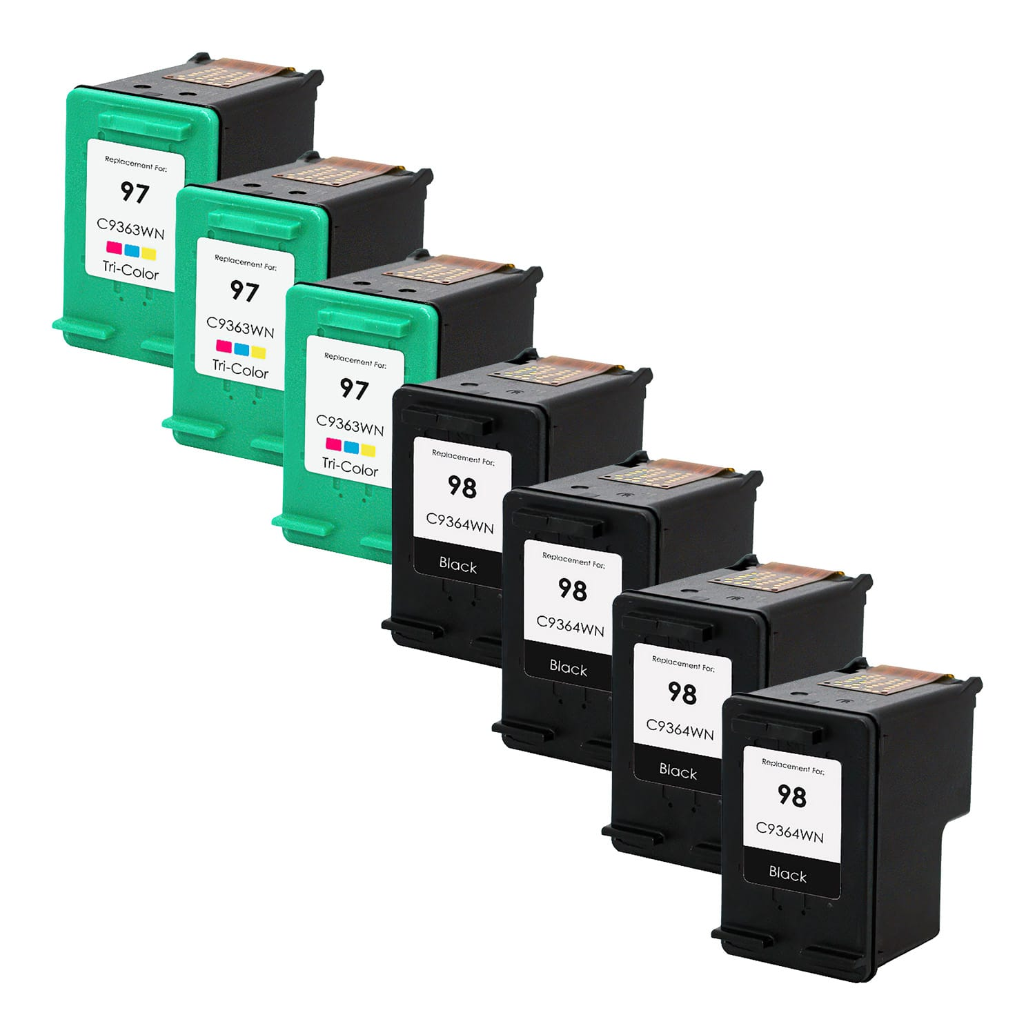 Remanufactured HP 97-98 Inkjet Pack - 7 Cartridges