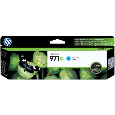 HP 971XL Cyan Ink Cartridge - HP Genuine OEM (Cyan)