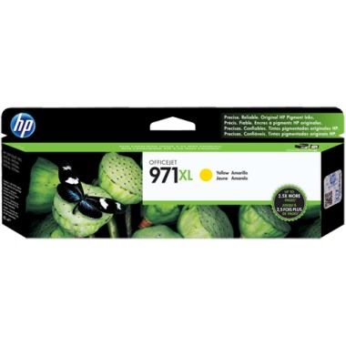 HP 971XL Yellow Ink Cartridge - HP Genuine OEM (Yellow)