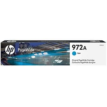 HP 972 Cyan Ink Cartridge - HP Genuine OEM (Cyan)
