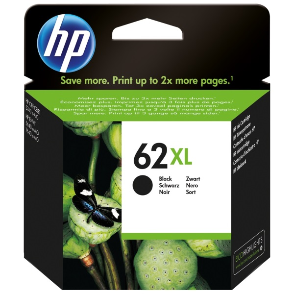 HP 62XL Black Ink Cartridge - HP Genuine OEM (Black)