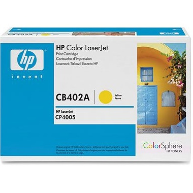 CB402A Toner Cartridge - HP Genuine OEM (Yellow)